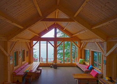 Custom Timber Frame home, Seldovia, Alaska