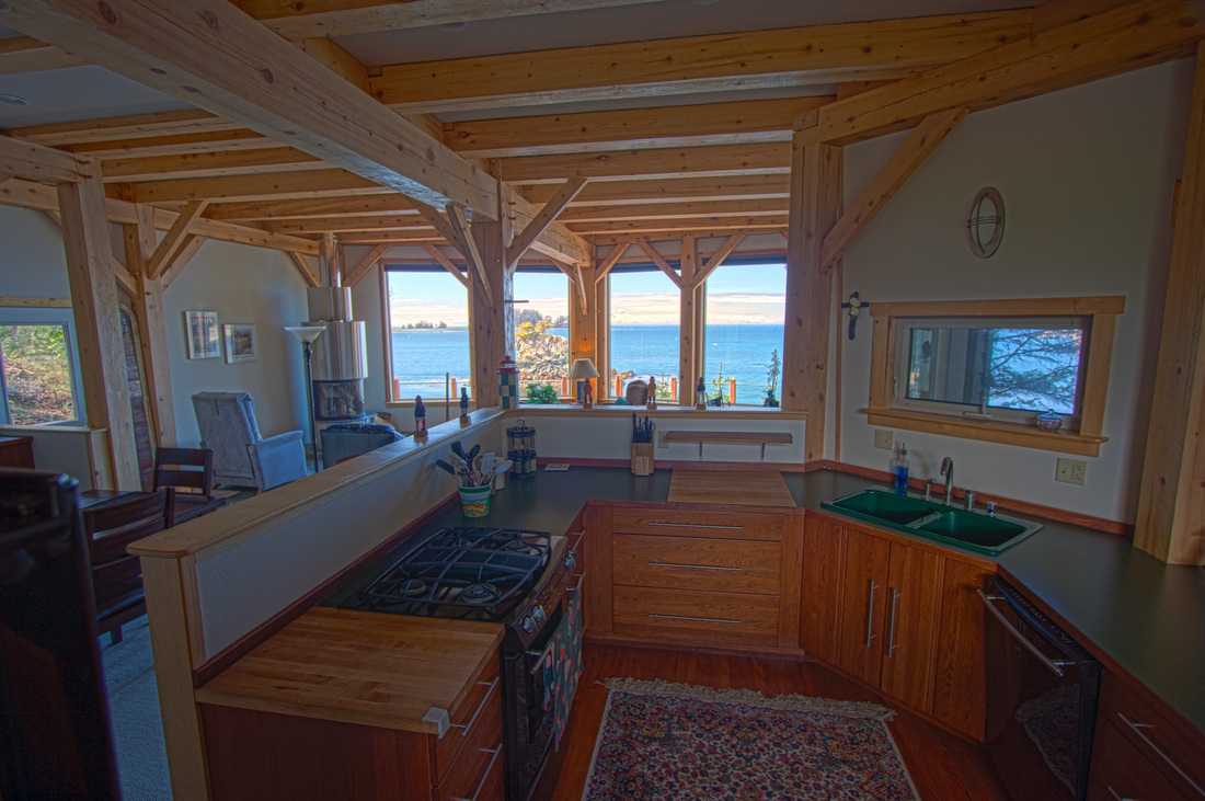 Custom Timber Frame Home & Interior Design, Seldovia, Alaska