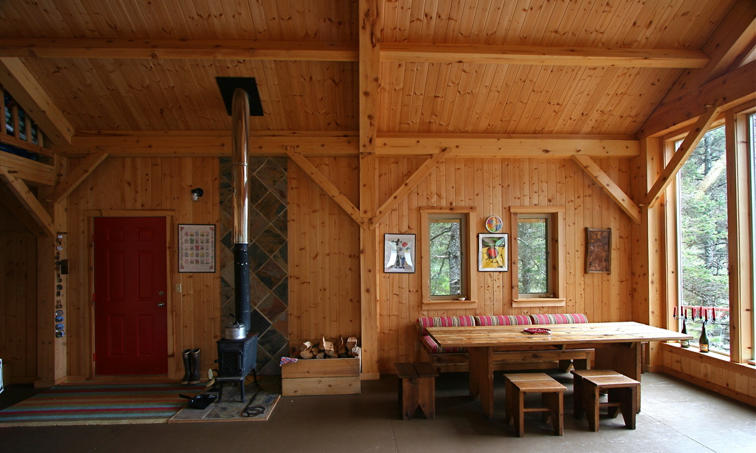 custom timber frame home interior design seldovia alaska