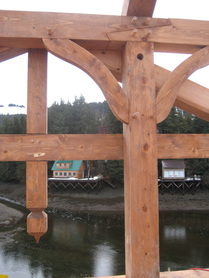 Timber frame project on Seldovia Slough, Alaska